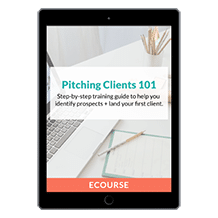 Pitching Clients 101